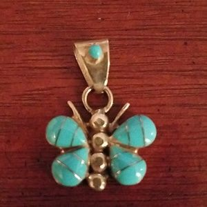 Native American stwrling and turquoise butterfly